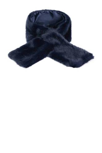imitatiebont sjaal blauw