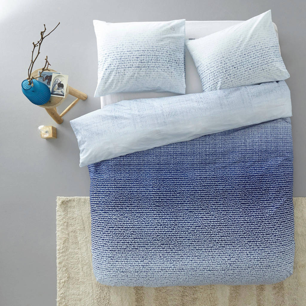 Beddinghouse katoenen dekbedovertrek lits-jumeaux, Blauw, Lits-jumeaux (240 cm breed)