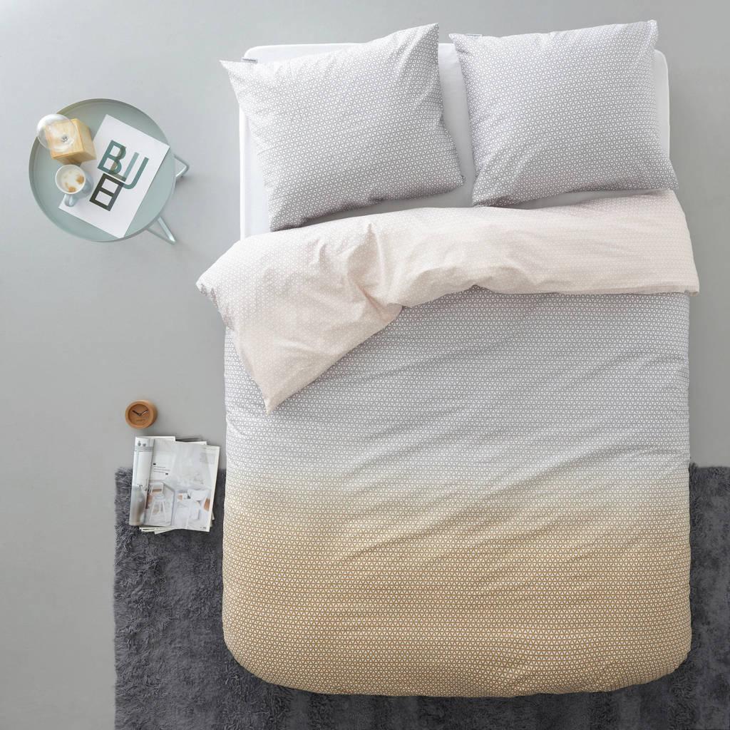 Beddinghouse katoenen dekbedovertrek lits-jumeaux, Grijs, Lits-jumeaux (240 cm breed)