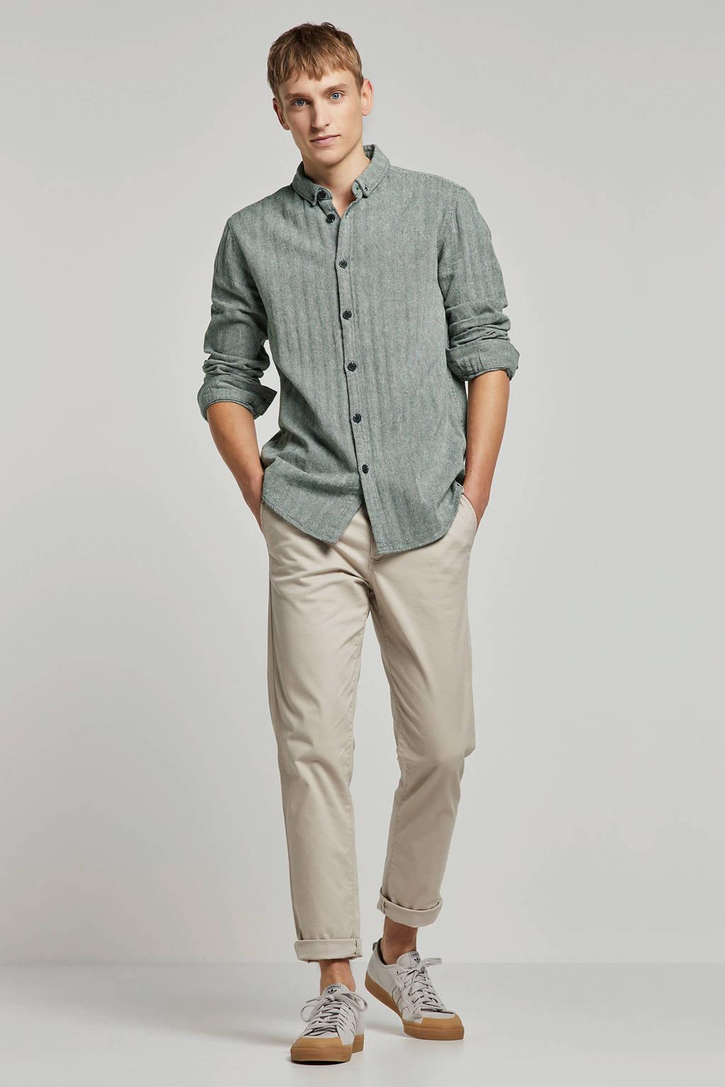 Anerkjendt overhemd, Groen/wit
