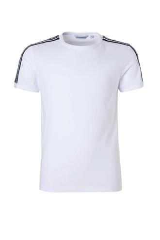 T-shirt met tape wit