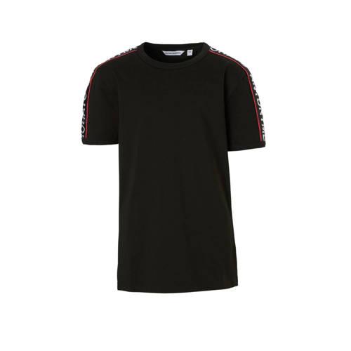 Antony Morato T-shirt met contrastbies zwart kopen