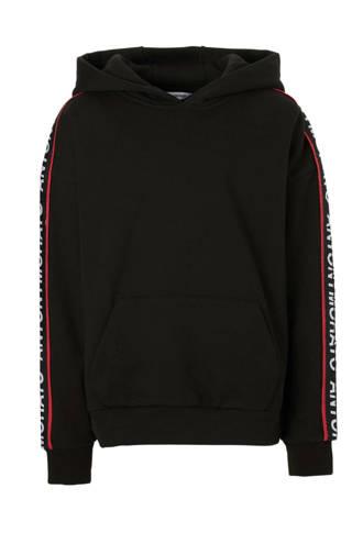 hoodie met tekstbies zwart