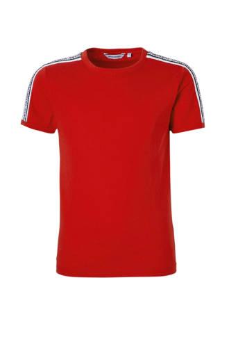 T-shirt met tape rood