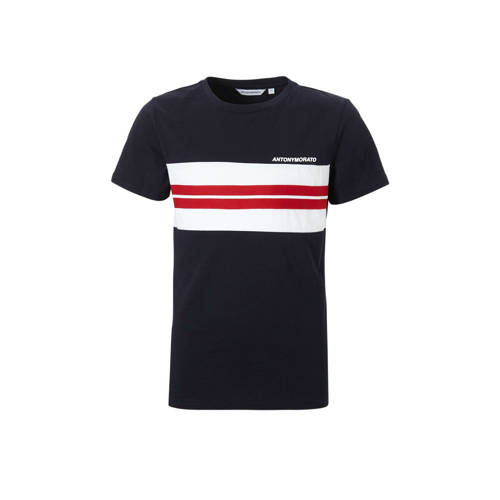 Antony Morato T-shirt met streep blauw kopen