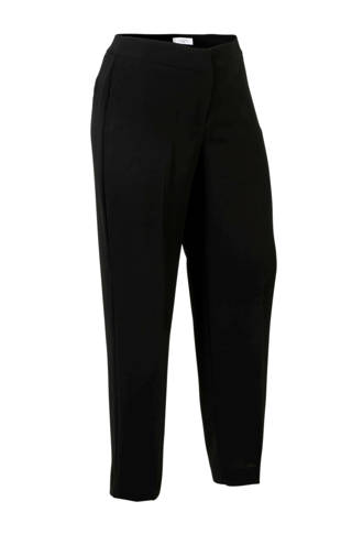 straight fit pantalon zwart