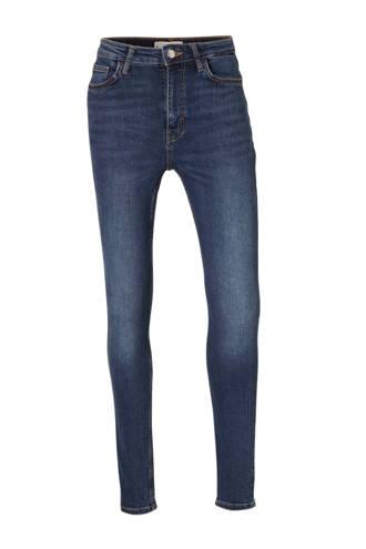 skinny jeans met high waist denim