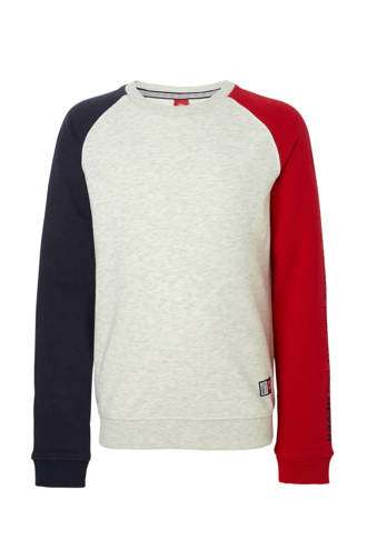 sweater met colourblocking rood
