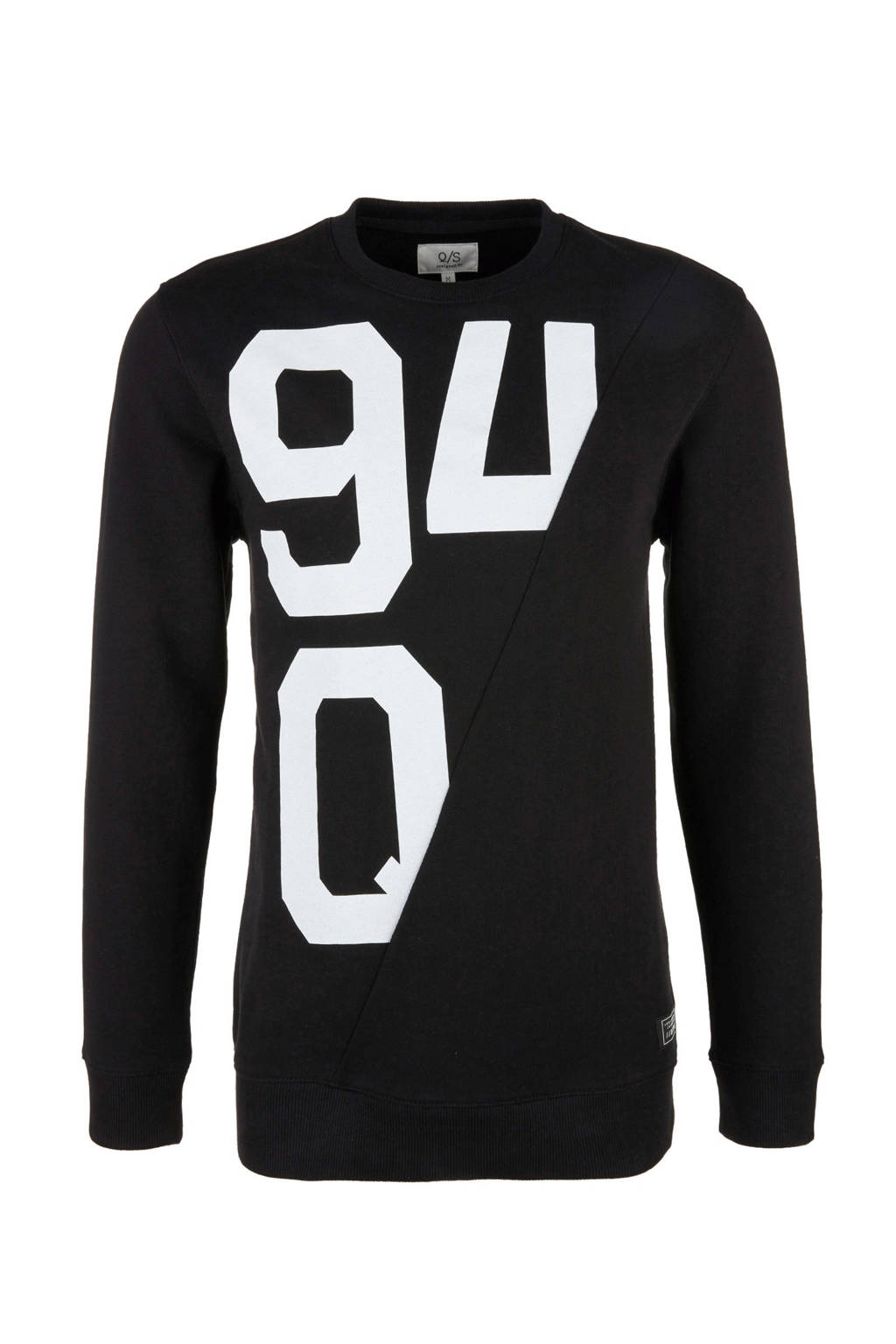 Q/S designed by sweater met printopdruk, Zwart