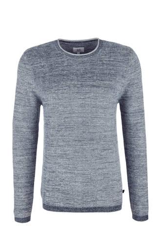 gemêleerde trui grijsblauw