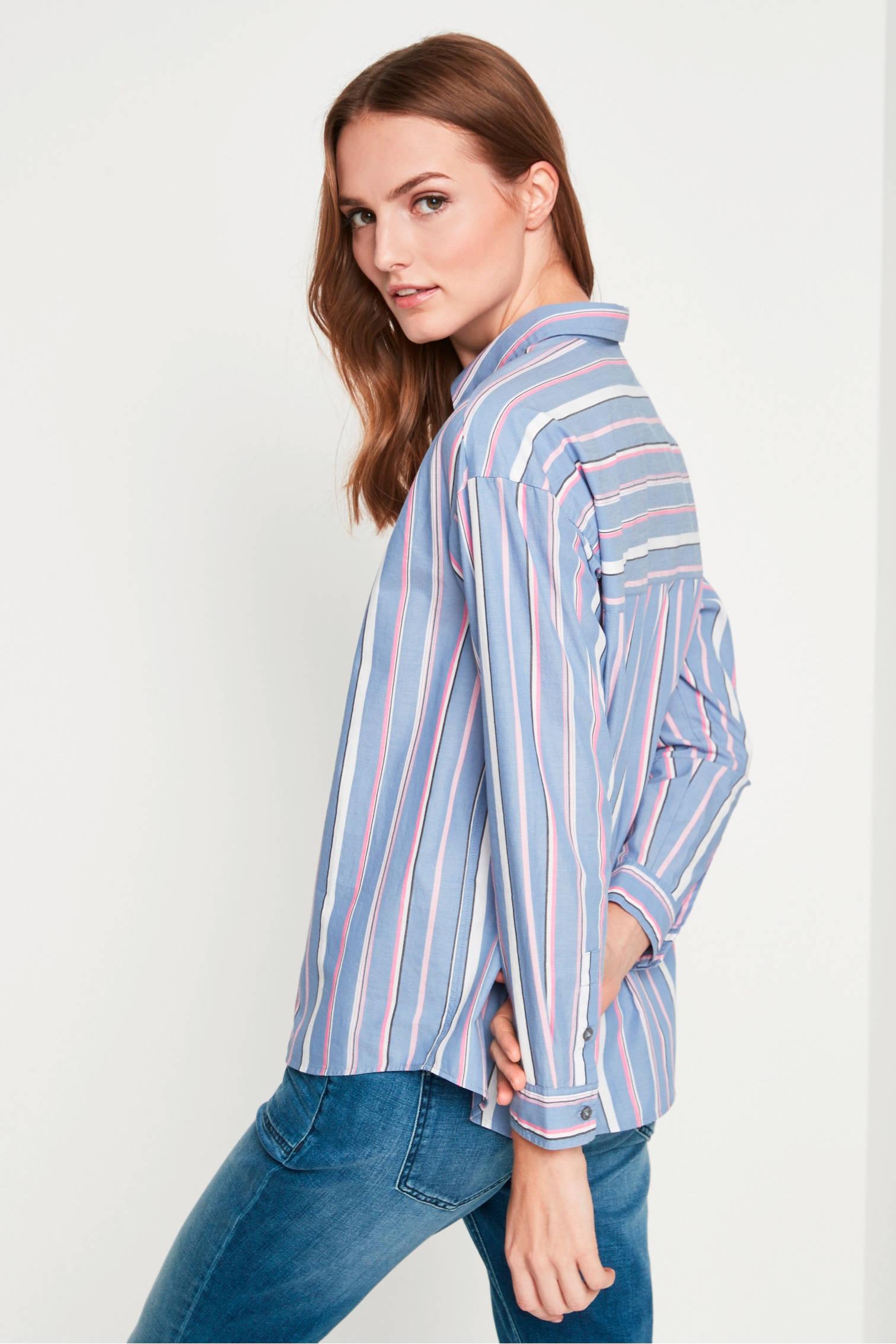 identity blouse casual comma gestreepte blauw 5gSfZnwq