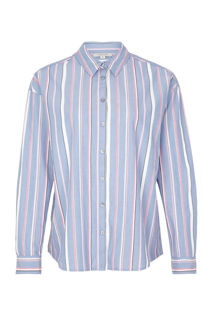 identity blauw blouse gestreepte comma casual BApxaq57w