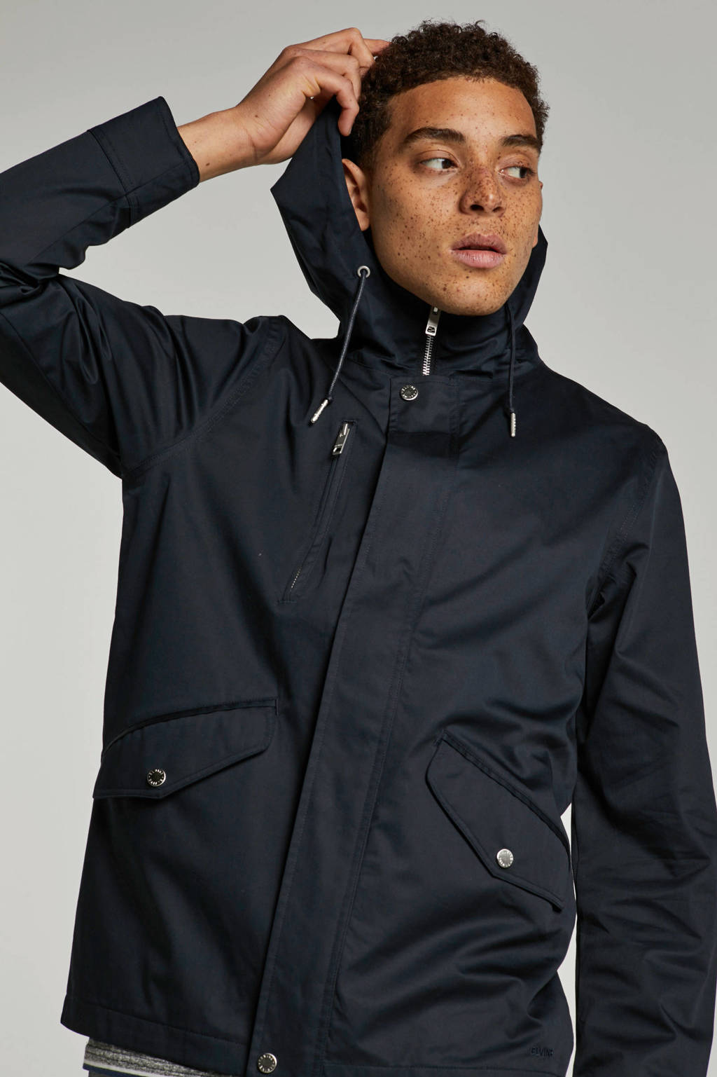 Elvine jas, Donkerblauw