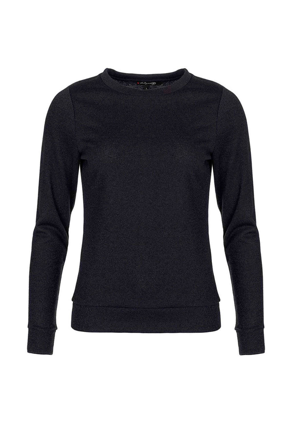 La Ligna glitter trui zwart, Zwart
