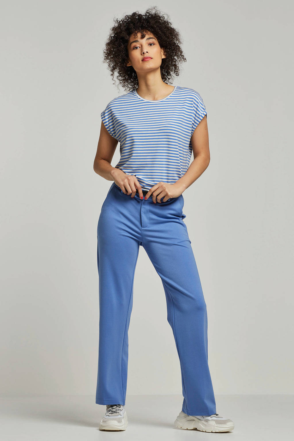 VERO MODA gestreept T-shirt blauw, Blauw