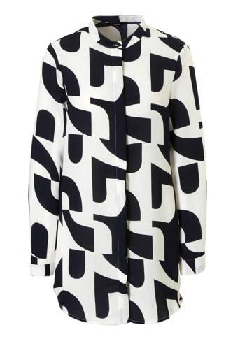 blouse lang met all over print