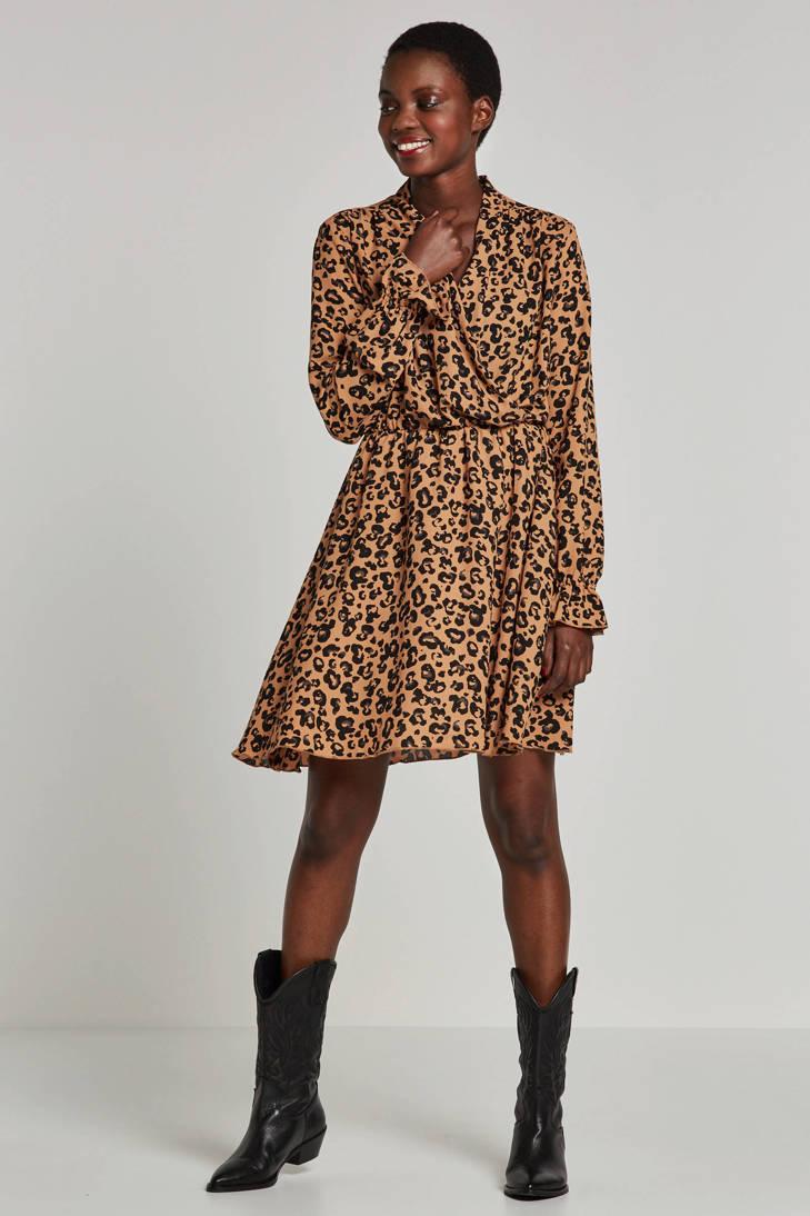 jurk met overslagkraag VERO MODA MODA en VERO panterprint AWARE by nqgzwCX
