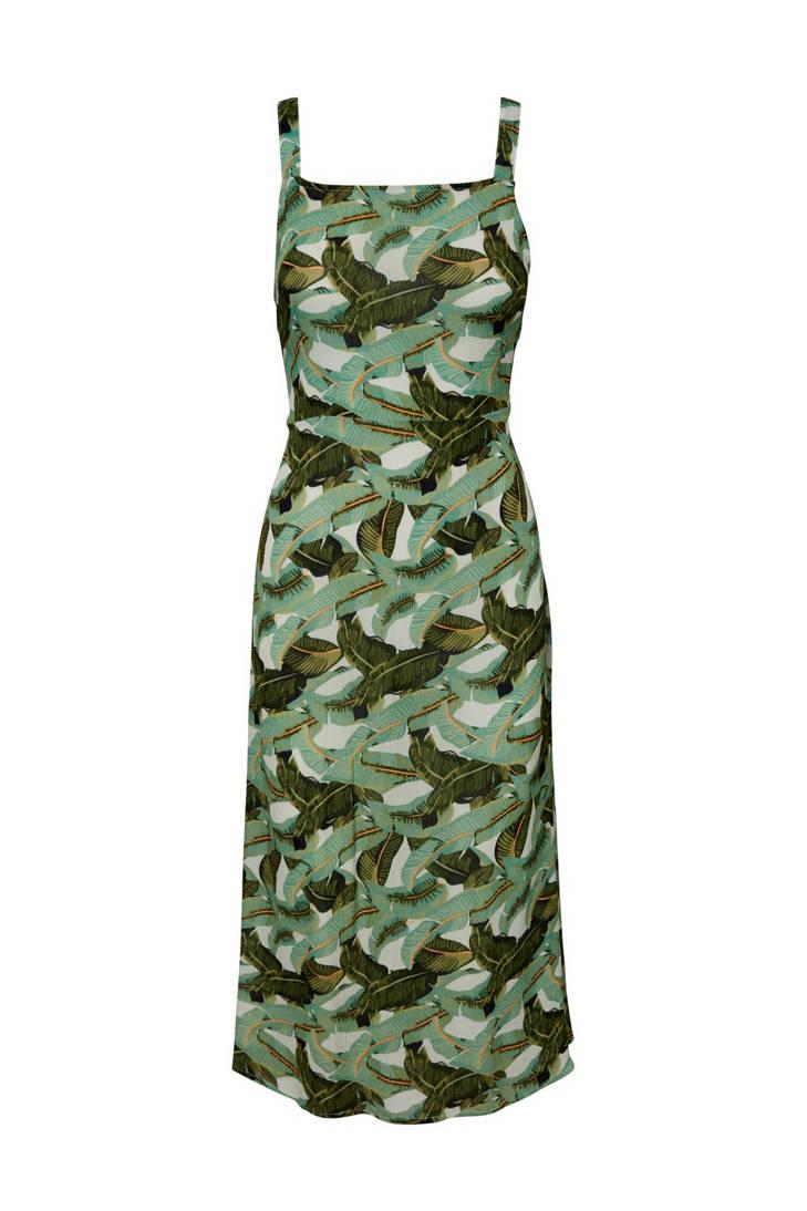 VERO MODA met bladprint jurk groen AAnpHqrW