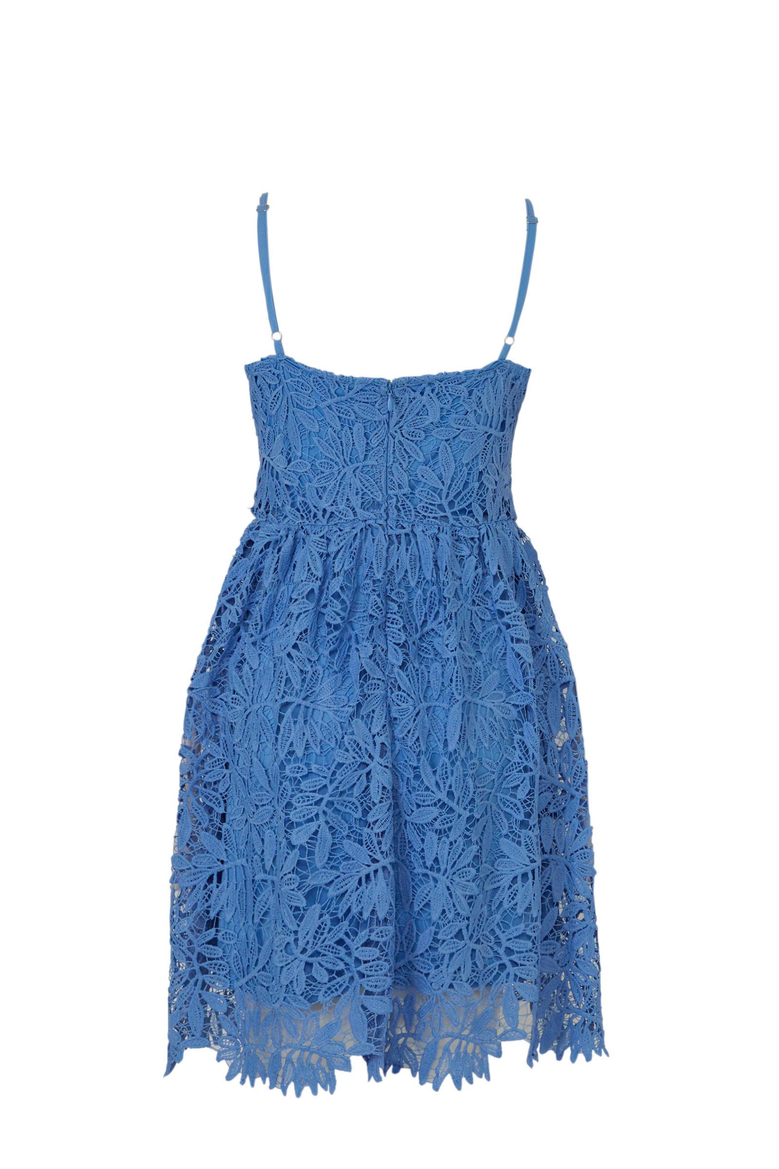 kanten MODA VERO blauw VERO kanten MODA jurk ZtwdqZ