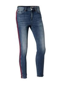 VERO MODA slim fit jeans met zijstrepen, Blauw