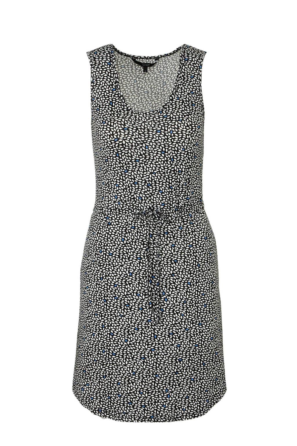 VERO MODA jurk met all over print, Zwart/wit/blauw