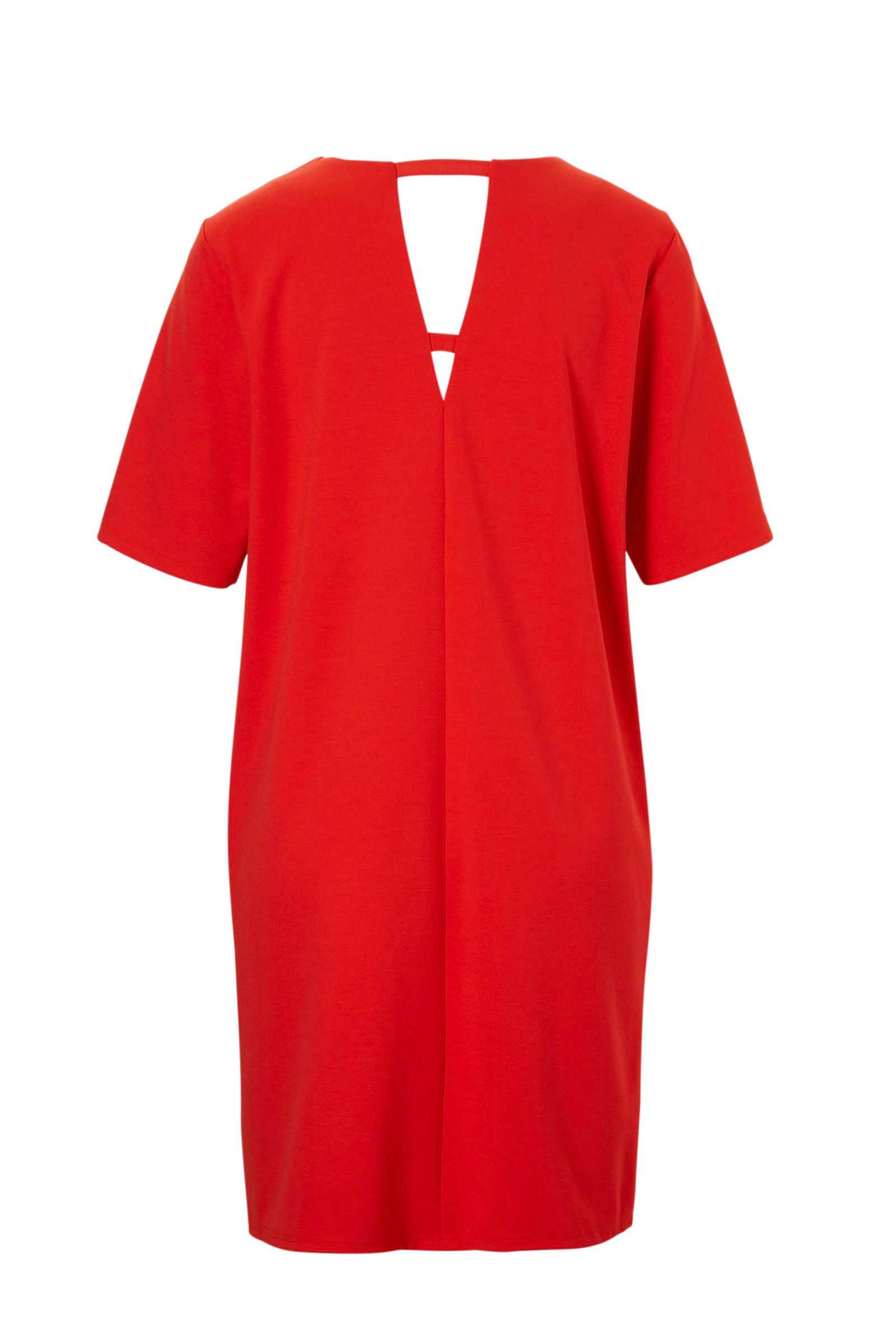 met MODA detail open rood VERO jurk gEnvqxwgf