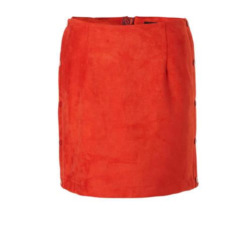 VERO MODA suéde rok rood kopen