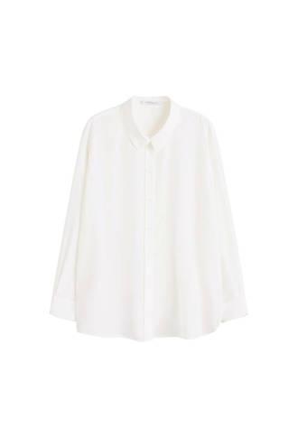 satijnen blouse wit