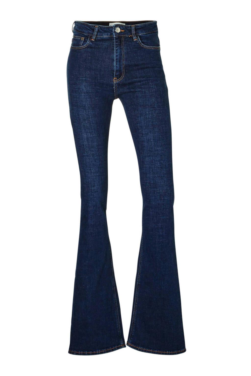 Mango high waisted flared jeans, Dark denim