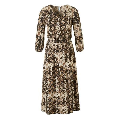 whkmp's beachwave jurk met slangenprint