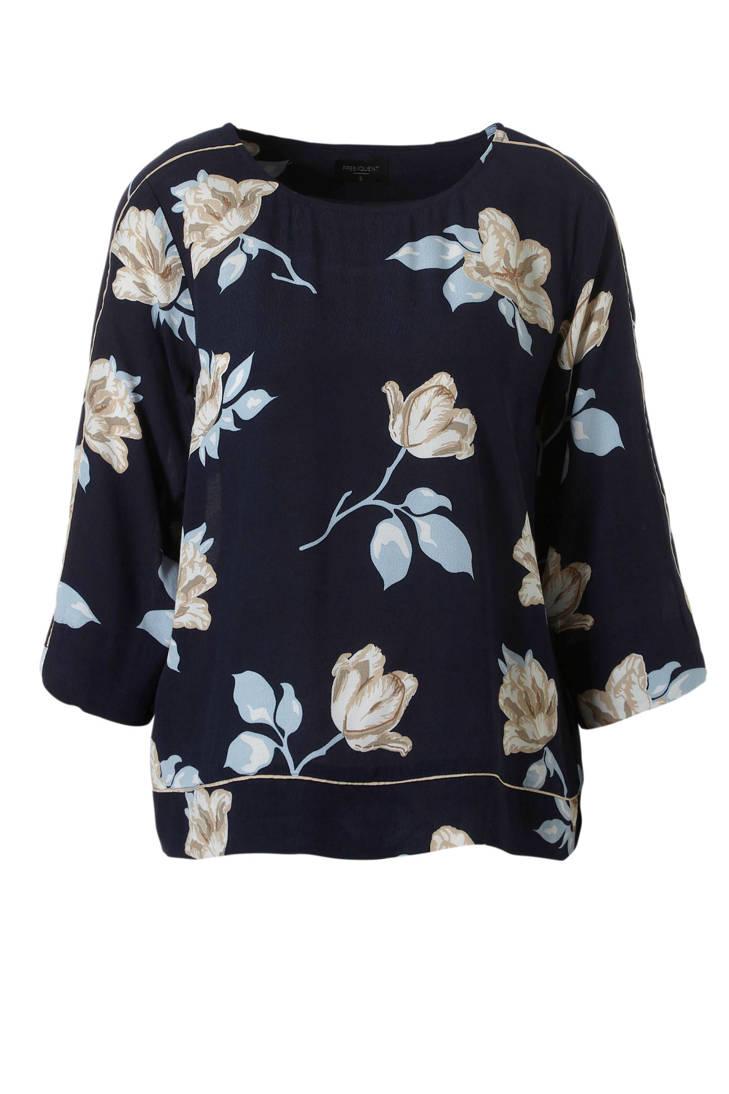 FREEQUENT blouse blauw blouse gebloemde FREEQUENT gebloemde 8wqU7EI