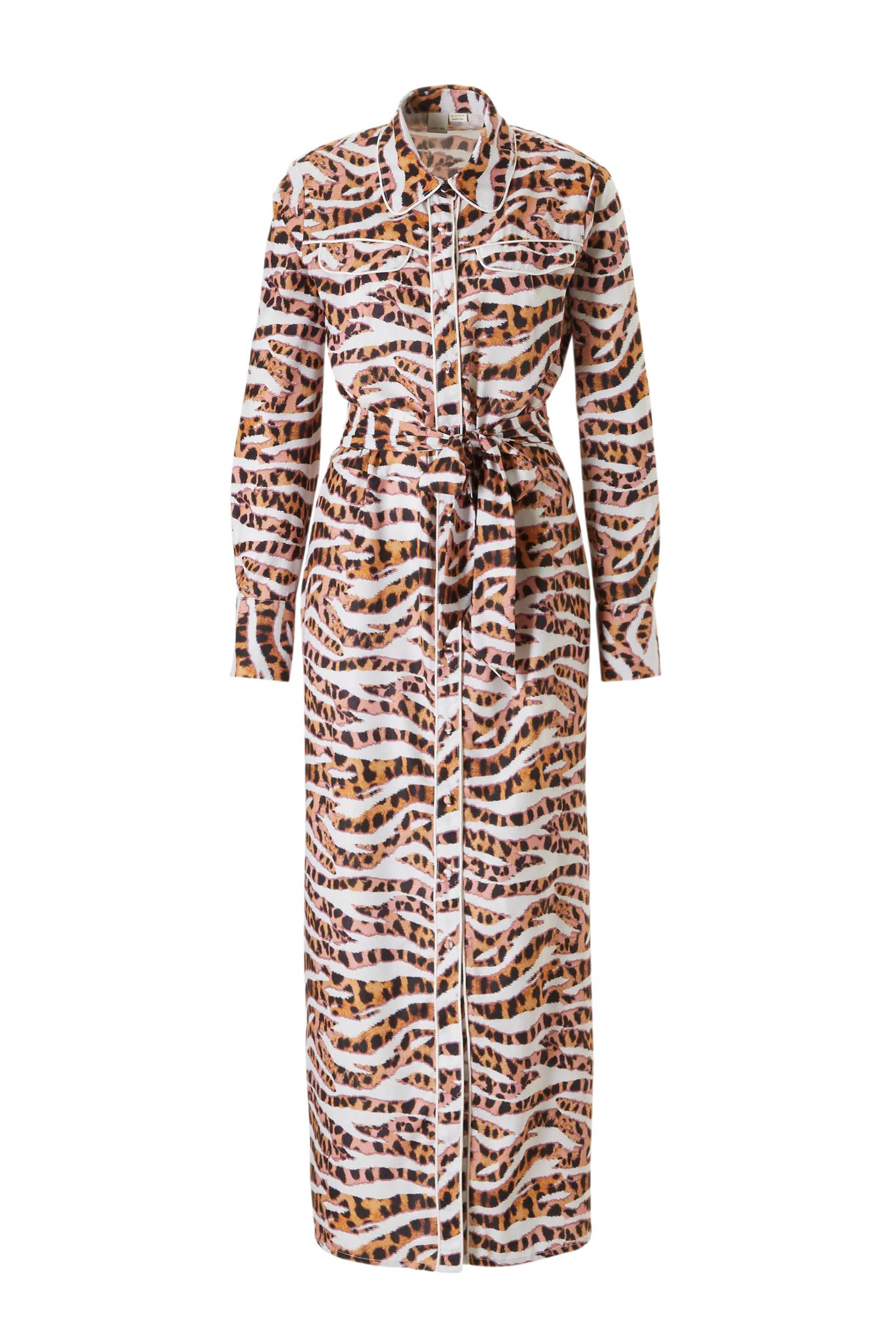 e35478550a9c30 Lost Ink Plus maxi jurk in tijgerprint