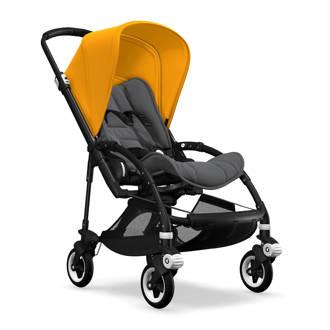 Bee5 kinderwagen zwart/geel