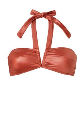 Mix & Match bandeau bikinitop van glanzend micro brique