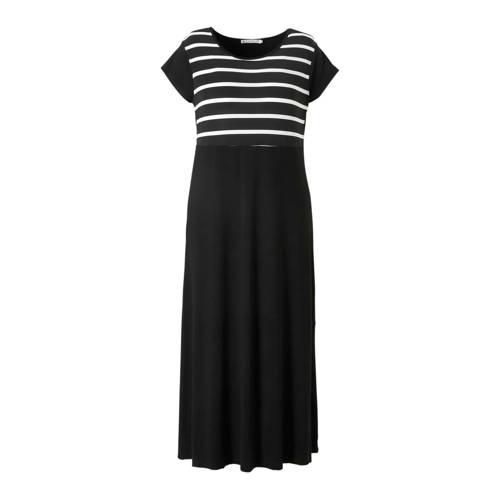 STUDIO maxi jurk met strepen zwart kopen