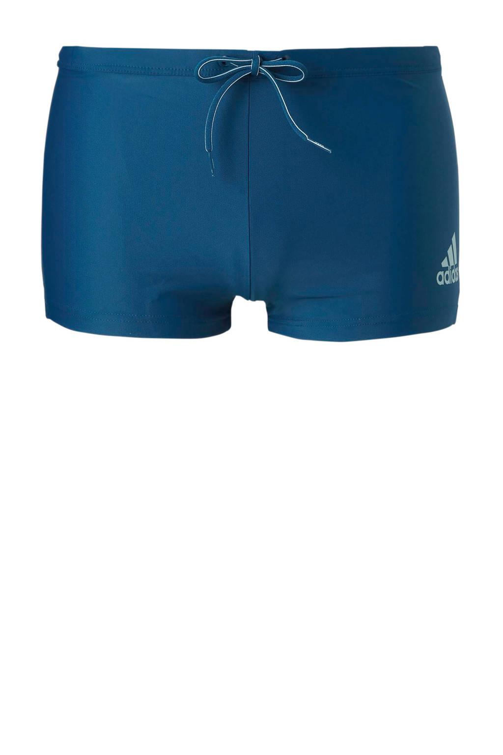 adidas performance zwemboxer met logo blauw, Blauw