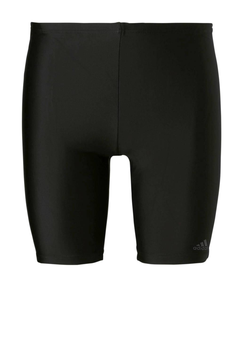 adidas zwemboxer lang zwart, Zwart/wit