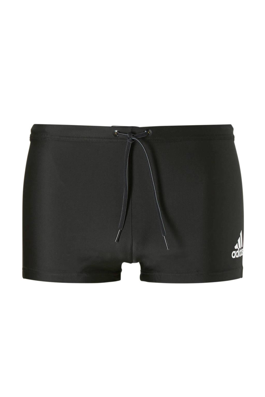 adidas performance zwemboxer met logo zwart, Zwart