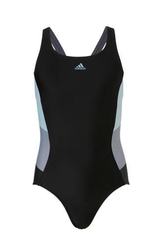 sportbadpak met kleurvlakken zwart