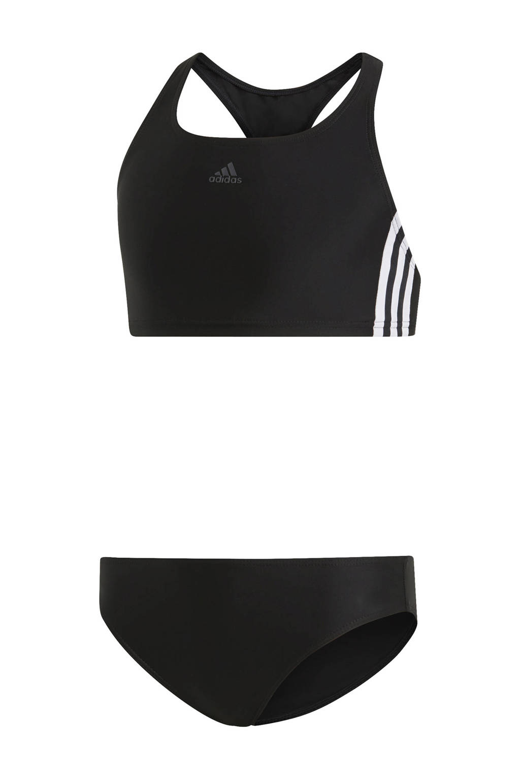 adidas infinitex crop bikini zwart, Zwart/wit