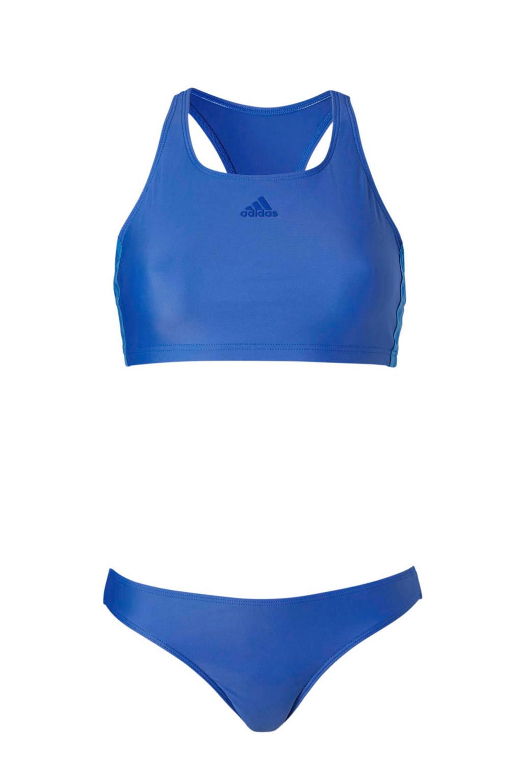 adidas performance crop bikini blauw, Blauw