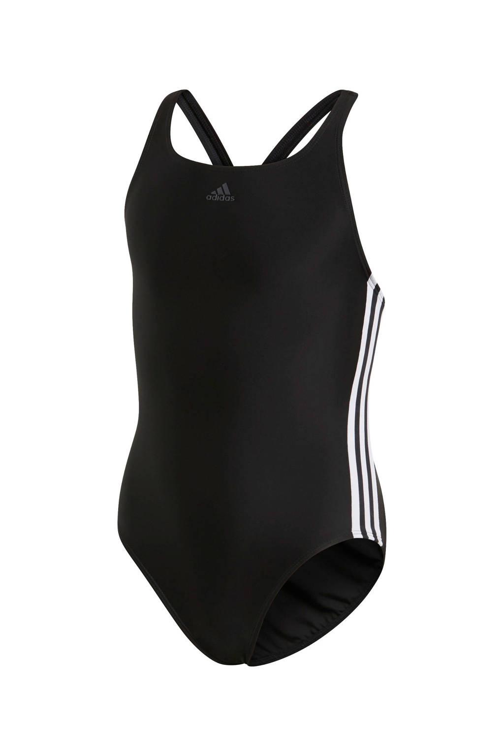adidas infinitex 3-stripes zwart, Zwart/wit