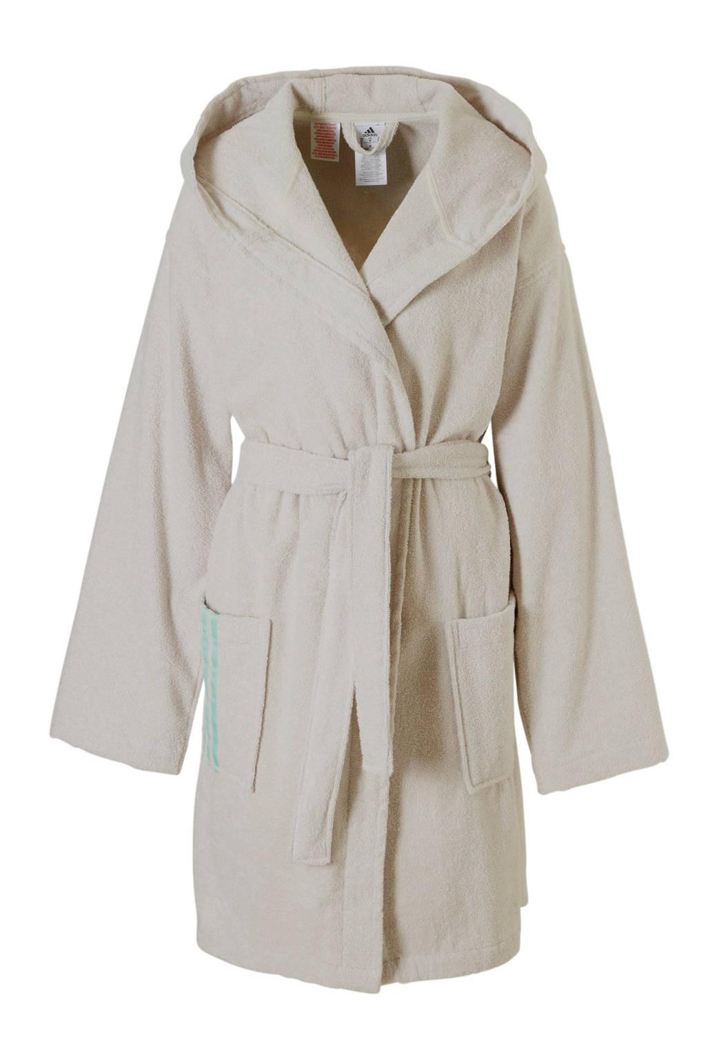 cf706399e23 adidas badstof badjas met capuchon beige | wehkamp