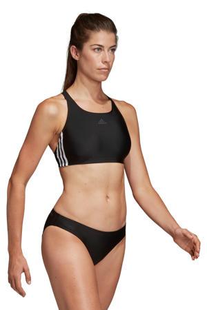 sportbikini 3-stripes zwart