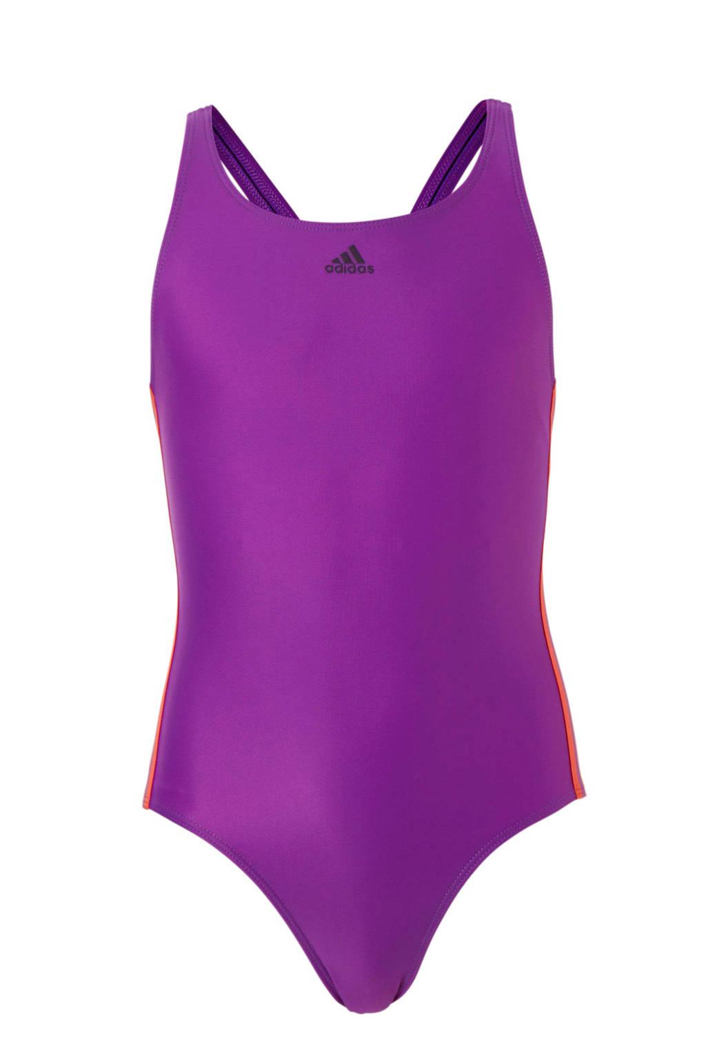 adidas sportbadpak met 3-stripes paars, Paars/roze