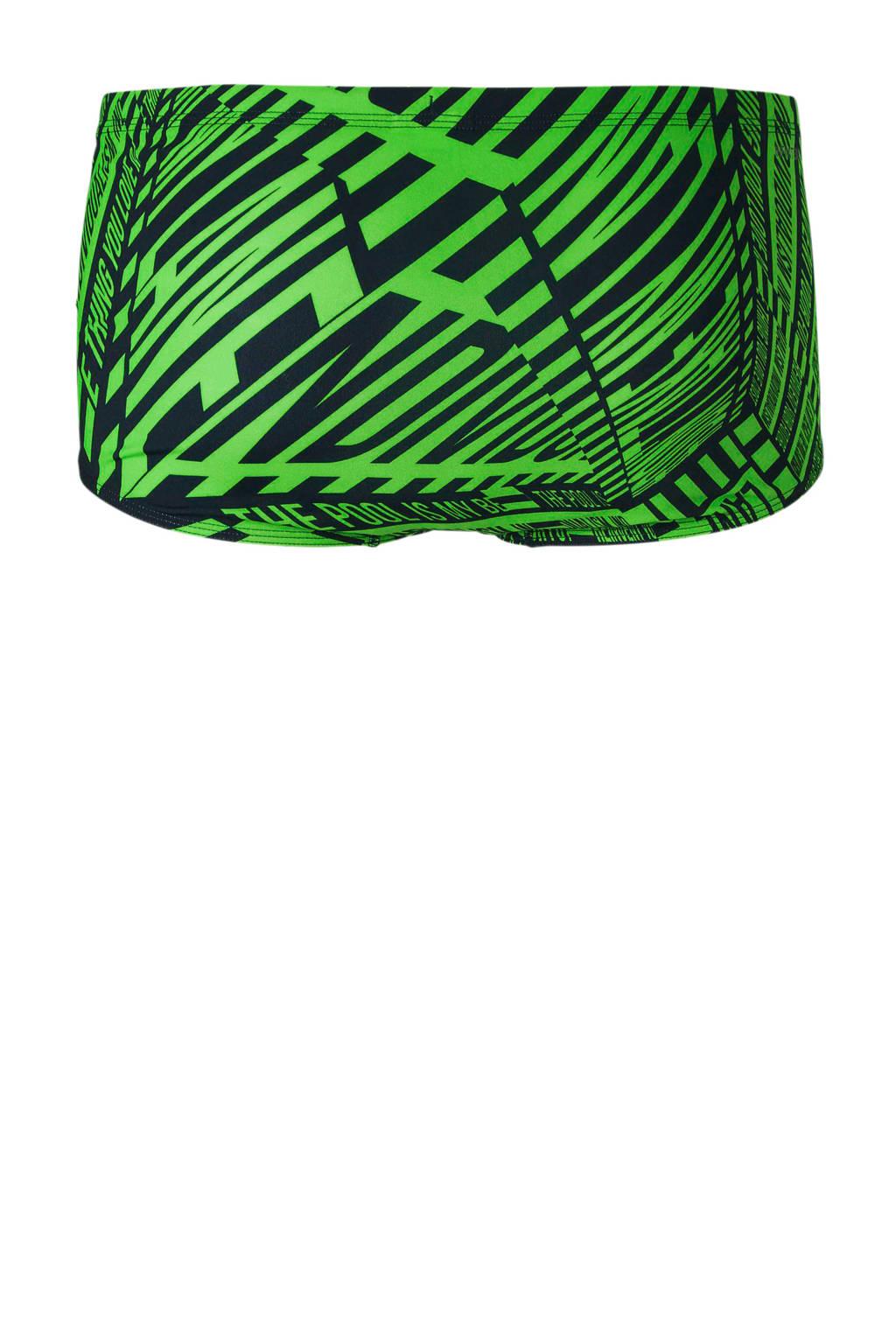 adidas performance infinitex zwemboxer in all over print groen, Groen/zwart