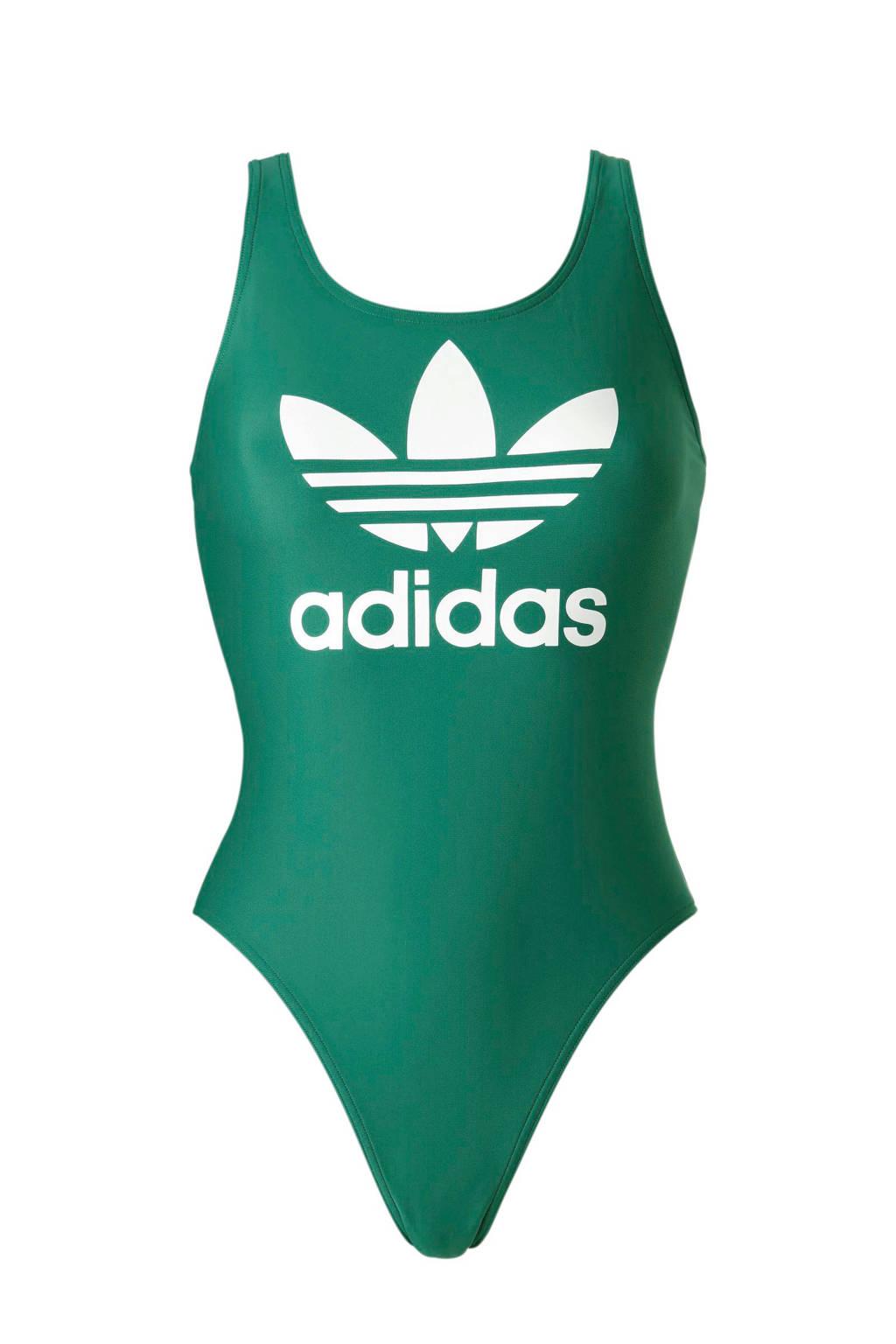 adidas performance performance sportbadpak met logo groen, Groen/wit