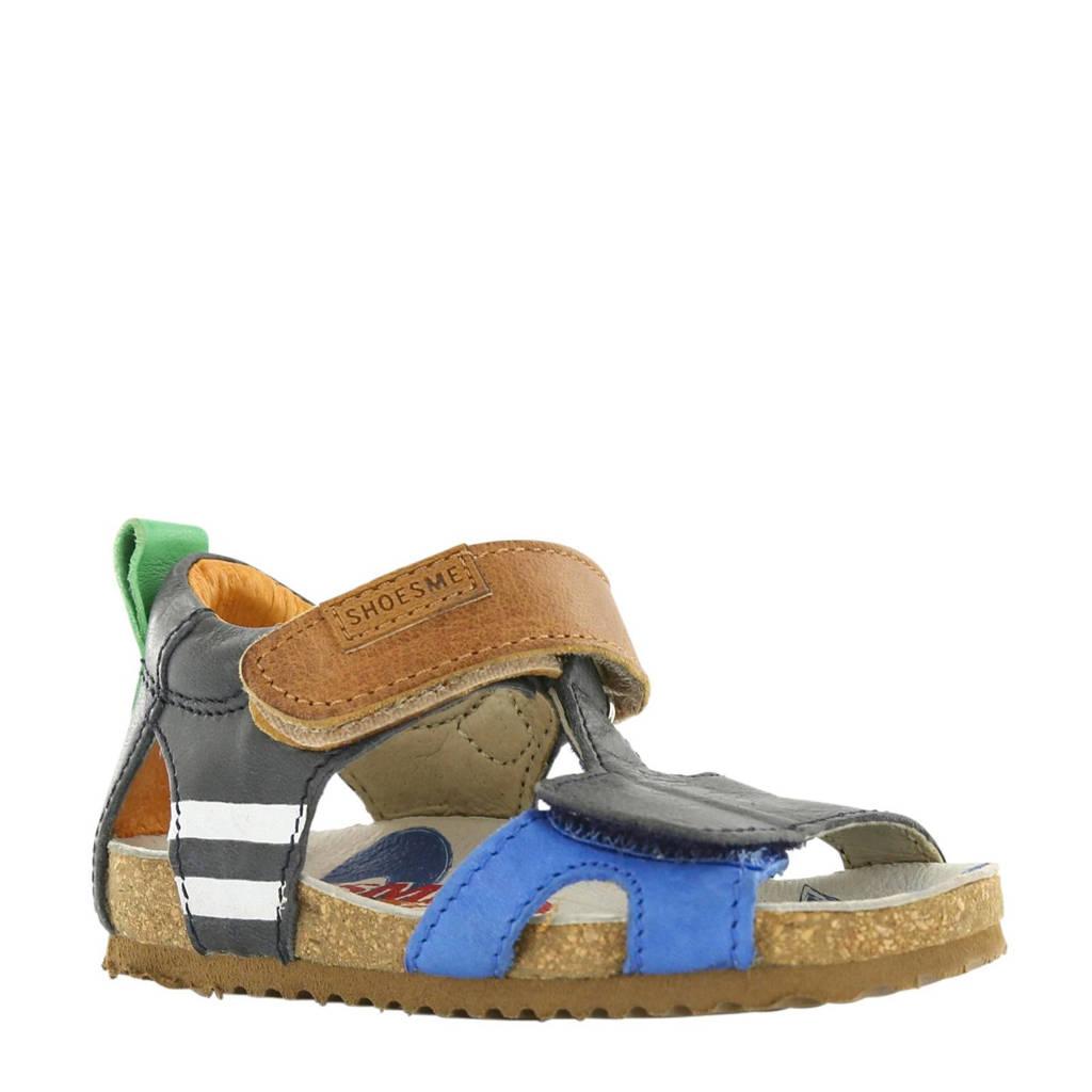 Shoesme leren sandalen, Bruin/blauw