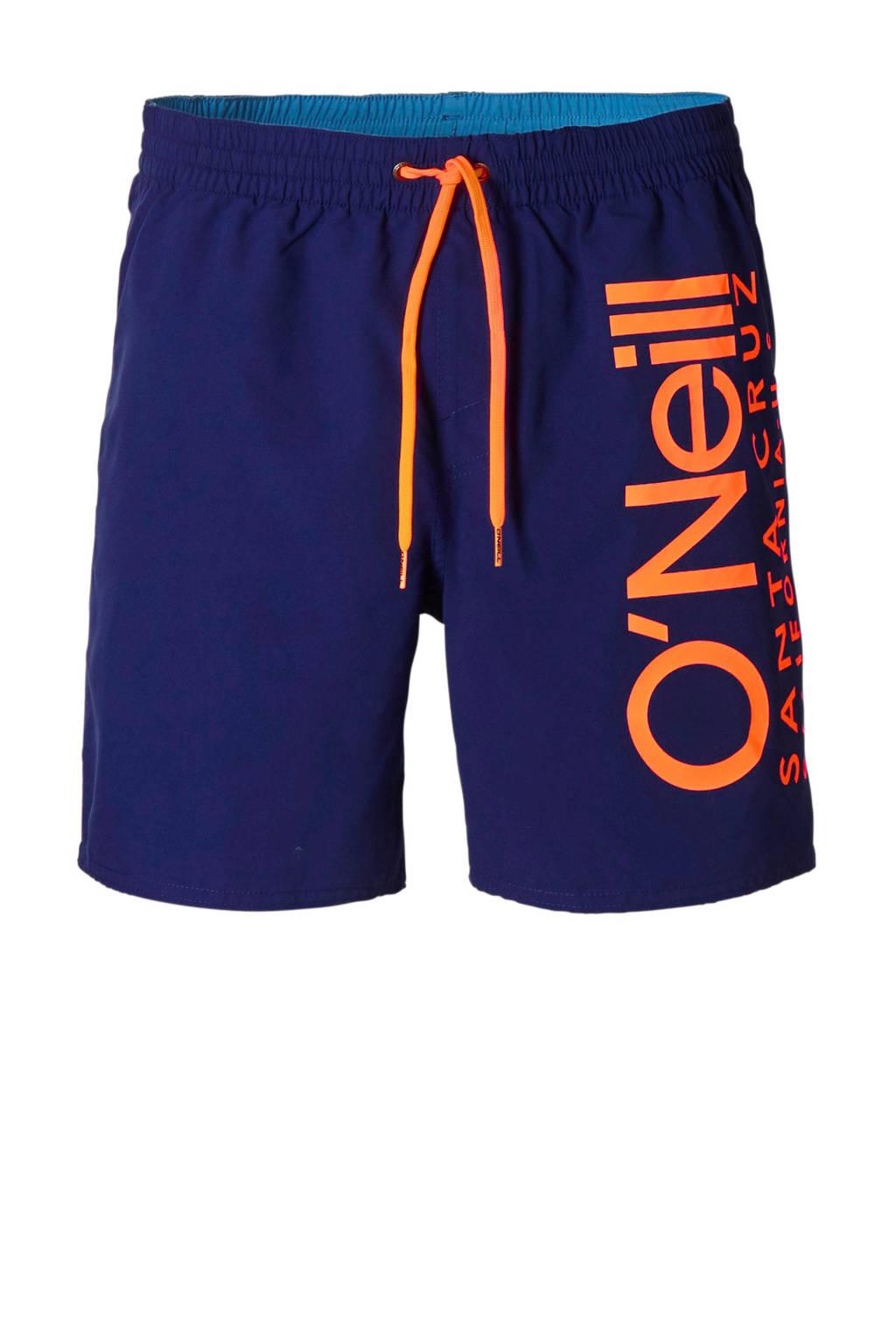 O'Neill zwemshort donkerblauw, Donkerblauw/oranje