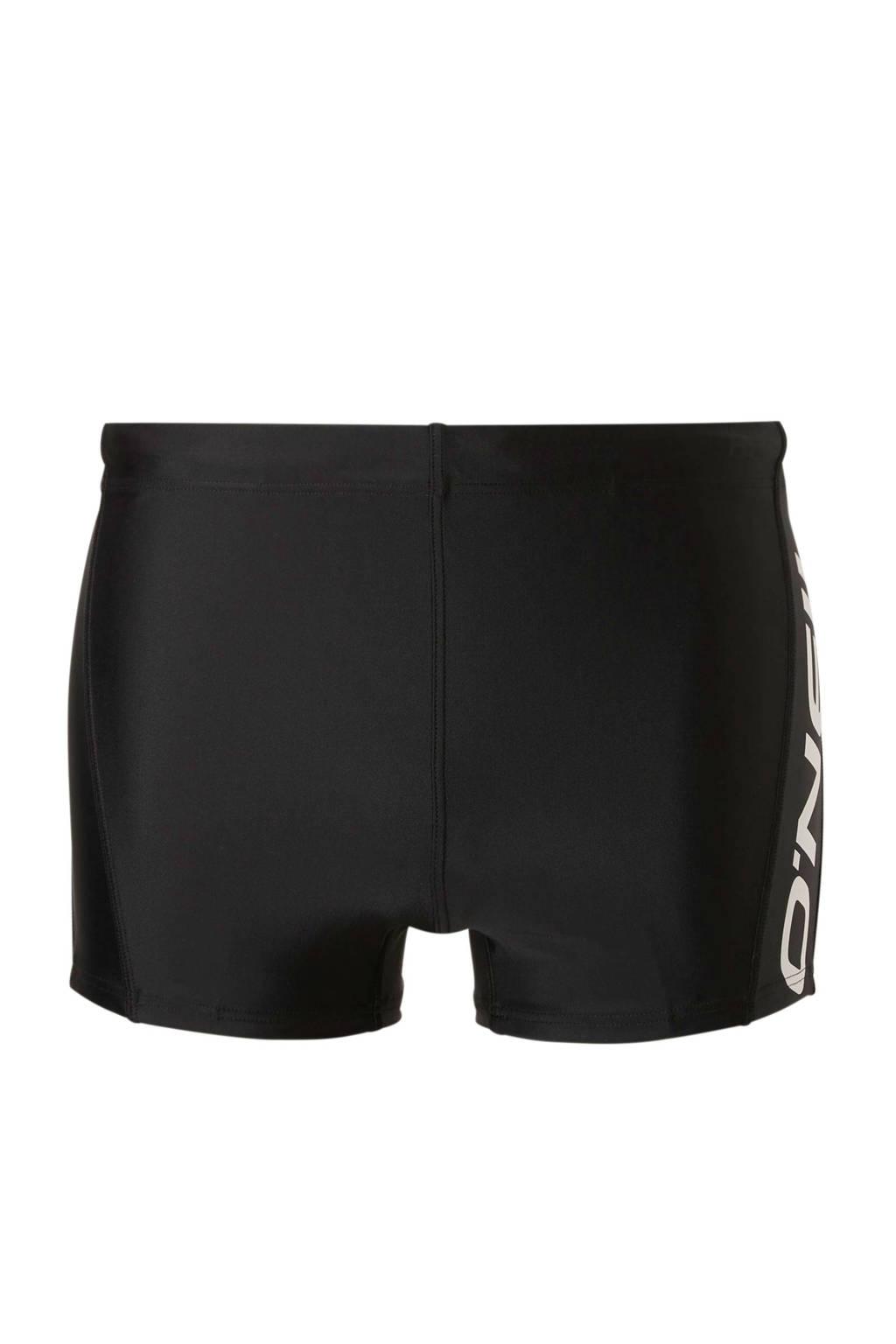 O'Neill zwemboxer met logo zwart, Zwart/wit
